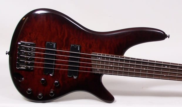 ibanez sr405qm cnb quilt maple top 5 string electric bass reverb. Black Bedroom Furniture Sets. Home Design Ideas