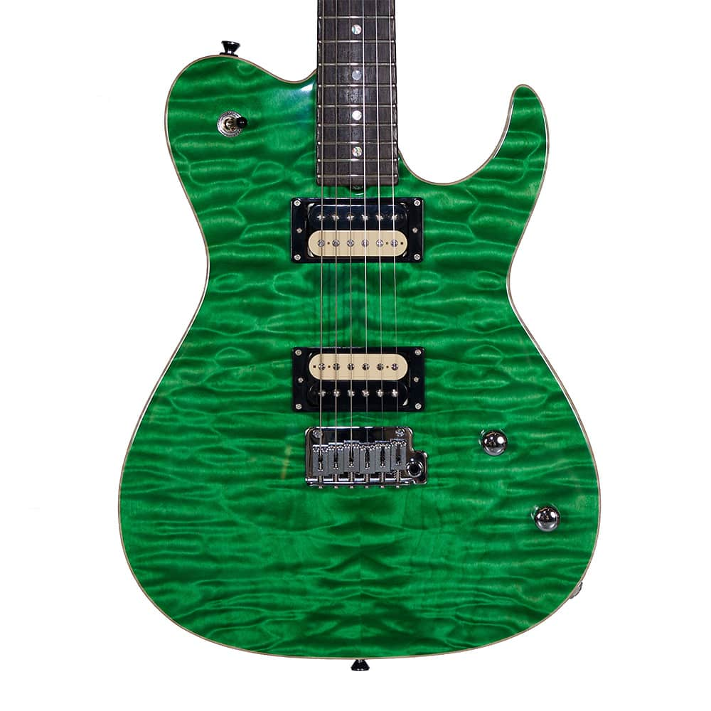 Grosh Flat Top Custom Electric Guitar Transparent Lime ...