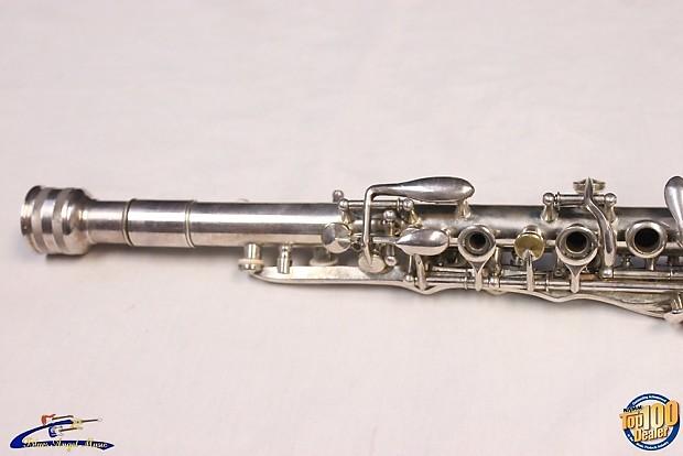 "Vintage H.N. White ""The Gladiator"" Metal Clarinet w/ OHSC ..."