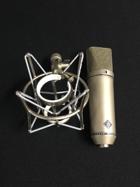 neumann u87 microphone early 70 39 s silver reverb. Black Bedroom Furniture Sets. Home Design Ideas
