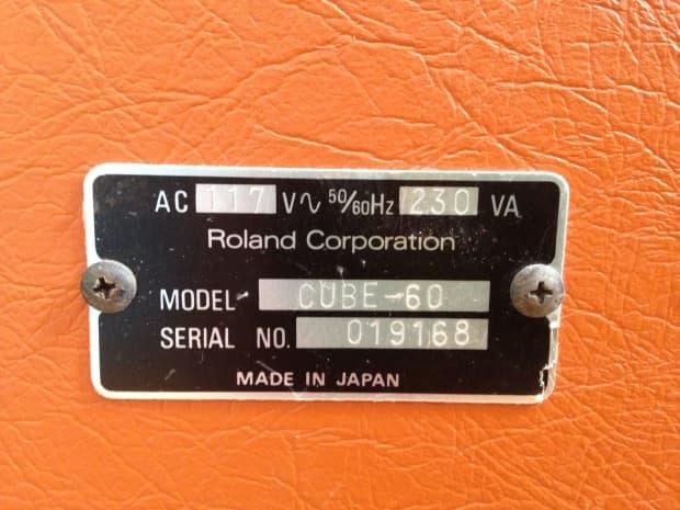roland cube 60 orange manual