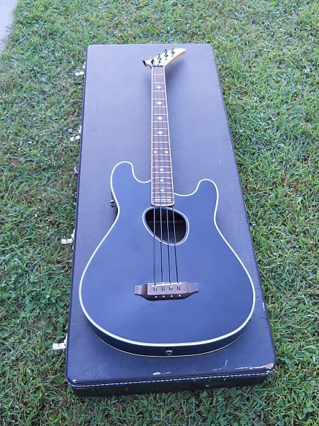 kramer ferrington acoustic electric bass guitar black reverb. Black Bedroom Furniture Sets. Home Design Ideas