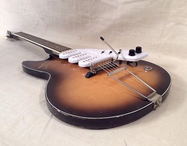 egmond super solid 7 electric guitar vintage 1960 made in reverb. Black Bedroom Furniture Sets. Home Design Ideas