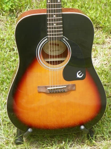 epiphone pr150 acoustic guitar pr 150 dr 100 sunburst finish reverb. Black Bedroom Furniture Sets. Home Design Ideas