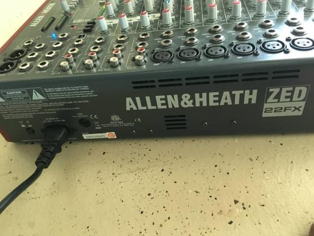allen heath zed 22fx usb mixer with effects reverb. Black Bedroom Furniture Sets. Home Design Ideas
