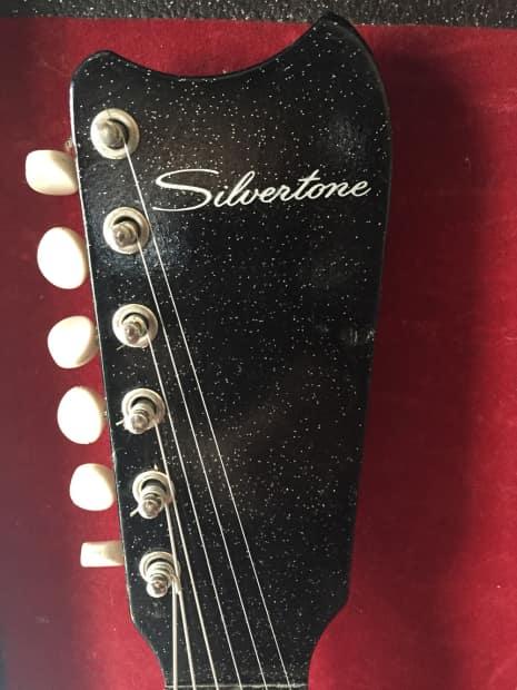 sears silvertone 1448 electric guitar vintage 60s black reverb. Black Bedroom Furniture Sets. Home Design Ideas
