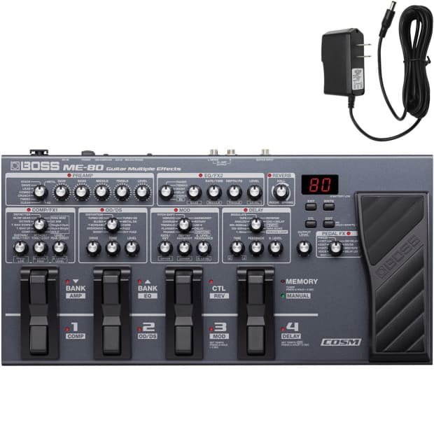 boss me 80 guitar multiple effects with looper with free reverb. Black Bedroom Furniture Sets. Home Design Ideas