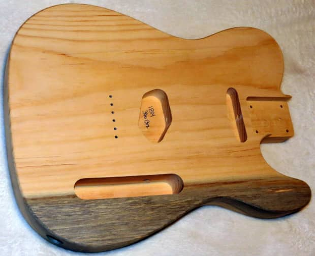 1 piece aged pine telecaster tele body 3lbs 13oz standard reverb. Black Bedroom Furniture Sets. Home Design Ideas