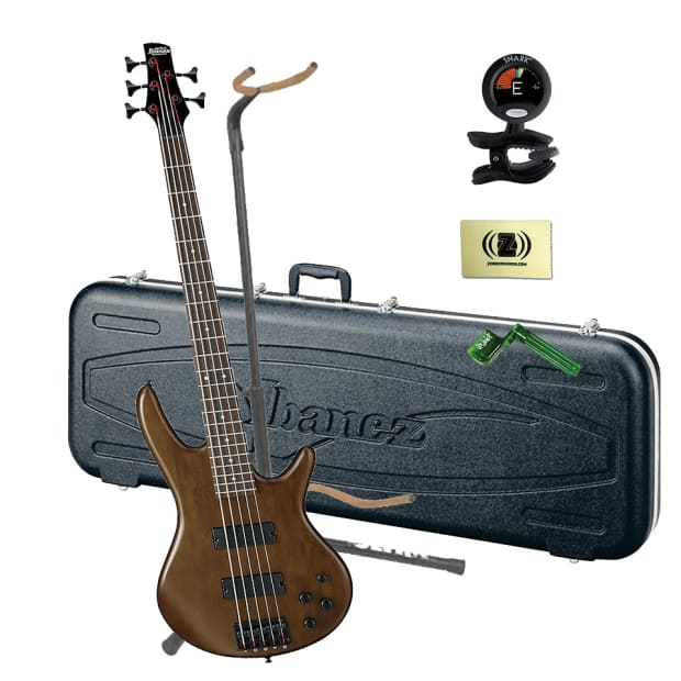 ibanez gsr205 5 string electric bass w case stand tuner reverb. Black Bedroom Furniture Sets. Home Design Ideas