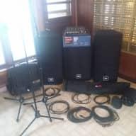 Complete 4000 Watt JBL Professinal PRX PA System, Soundcraft Mixer, Cables, Bags, & Stands