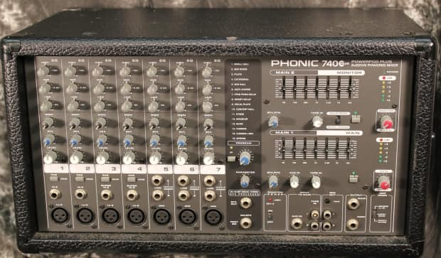 phonic powerpod 740 plus 2x220w 7 channel powered mixer with reverb. Black Bedroom Furniture Sets. Home Design Ideas
