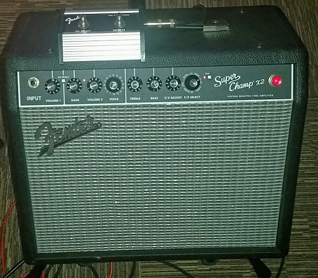 fender super champ x2 w footswitch and cover reverb. Black Bedroom Furniture Sets. Home Design Ideas