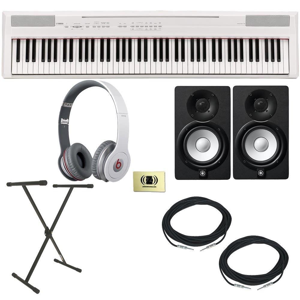 Yamaha p 105 88 key digital piano w beats headphones reverb for Yamaha p105 digital piano bundle