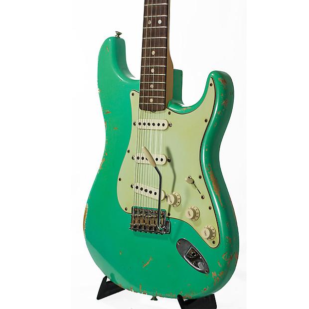 fender 65 heavy relic stratocaster seafoam green 2008 guitar reverb. Black Bedroom Furniture Sets. Home Design Ideas