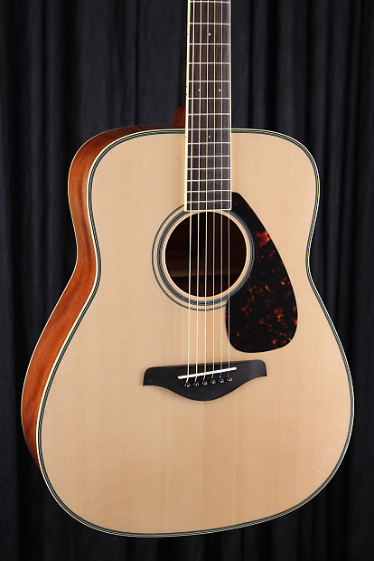 Yamaha fg720s solid top acoustic guitar natural reverb for Yamaha solid top
