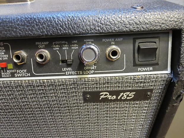 fender pro 185 2x12 160w guitar combo amp reverb. Black Bedroom Furniture Sets. Home Design Ideas