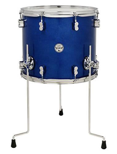 Pdp concept maple floor tom drum pdcm1618ttbl blue sparkle for 16 floor tom drum