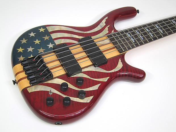 1976 usa custom made electric bass american flag model red reverb. Black Bedroom Furniture Sets. Home Design Ideas