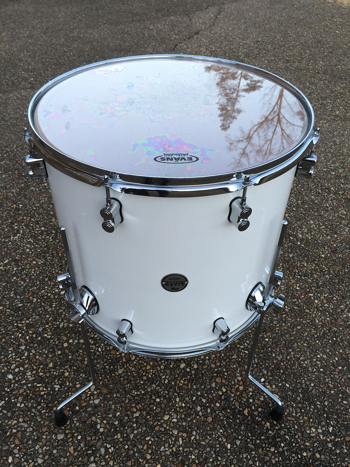 Pdp pdcm1618ttpw concept maple series 16x18 floor tom for 18 inch floor tom for sale