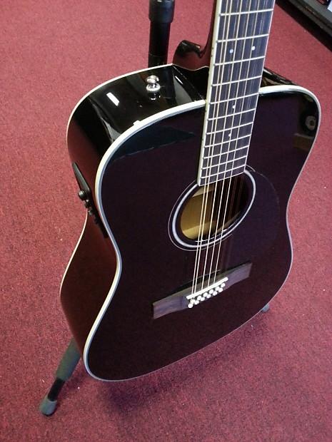 fender cd 160se 12 string acoustic electric guitar black reverb. Black Bedroom Furniture Sets. Home Design Ideas