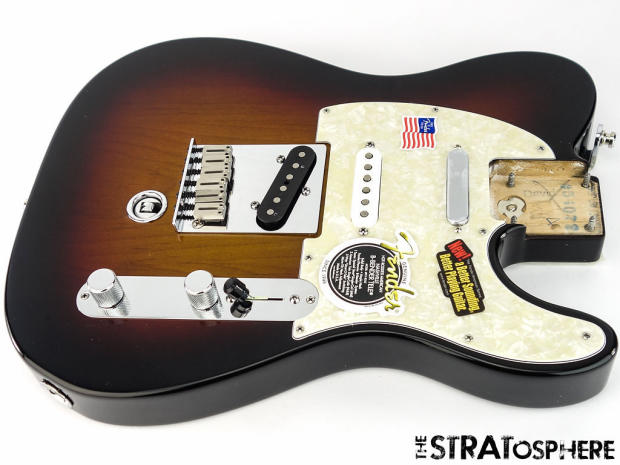 loaded 2015 american fender b bender tele body usa telecaster guitar sunburst reverb. Black Bedroom Furniture Sets. Home Design Ideas