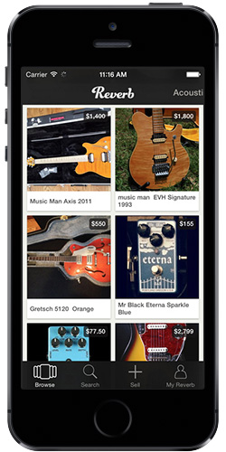 Reverb app on iPhone