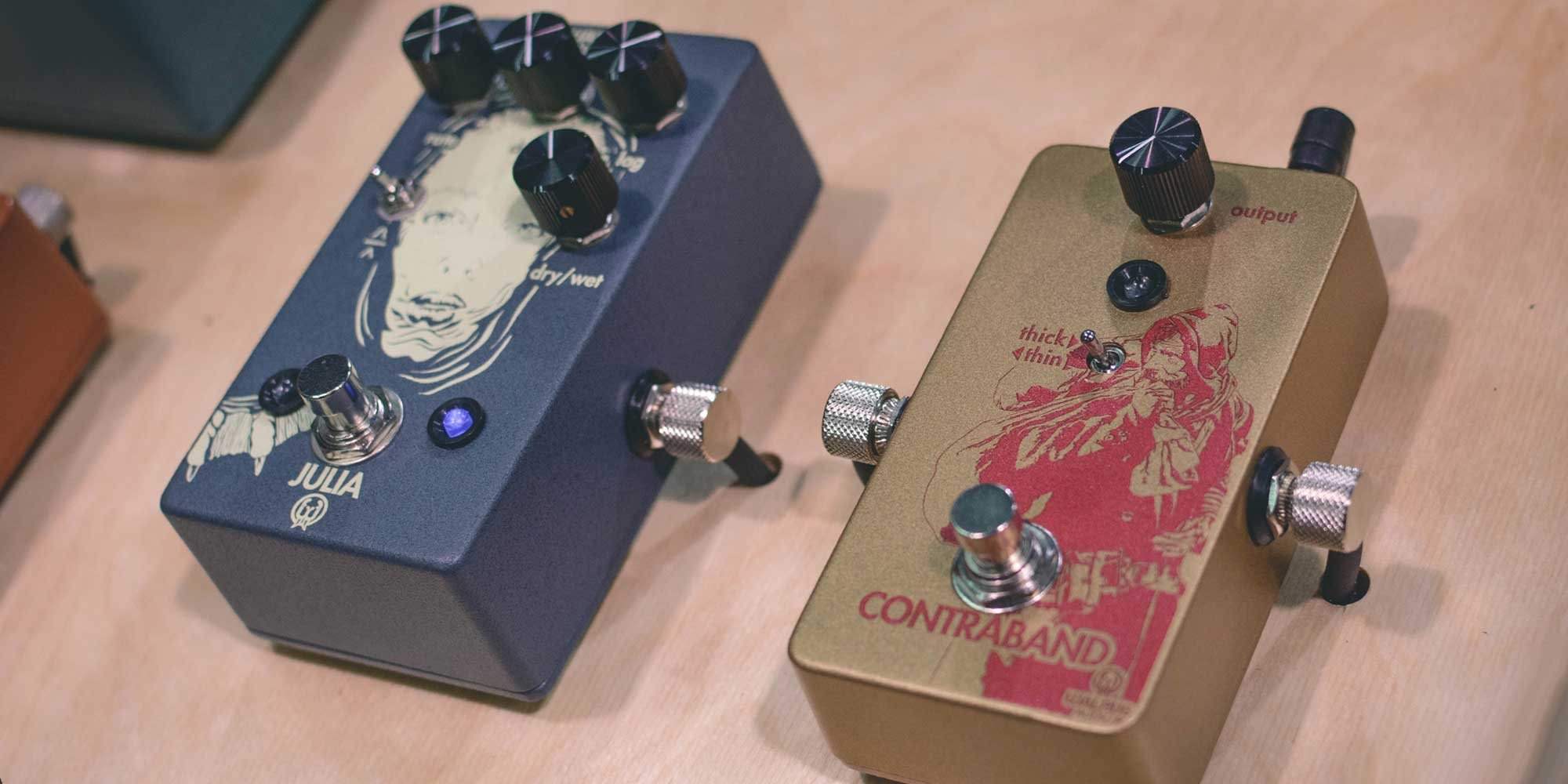 Julia Chorus/Vibrato and Contraband Fuzz from Walrus Audio