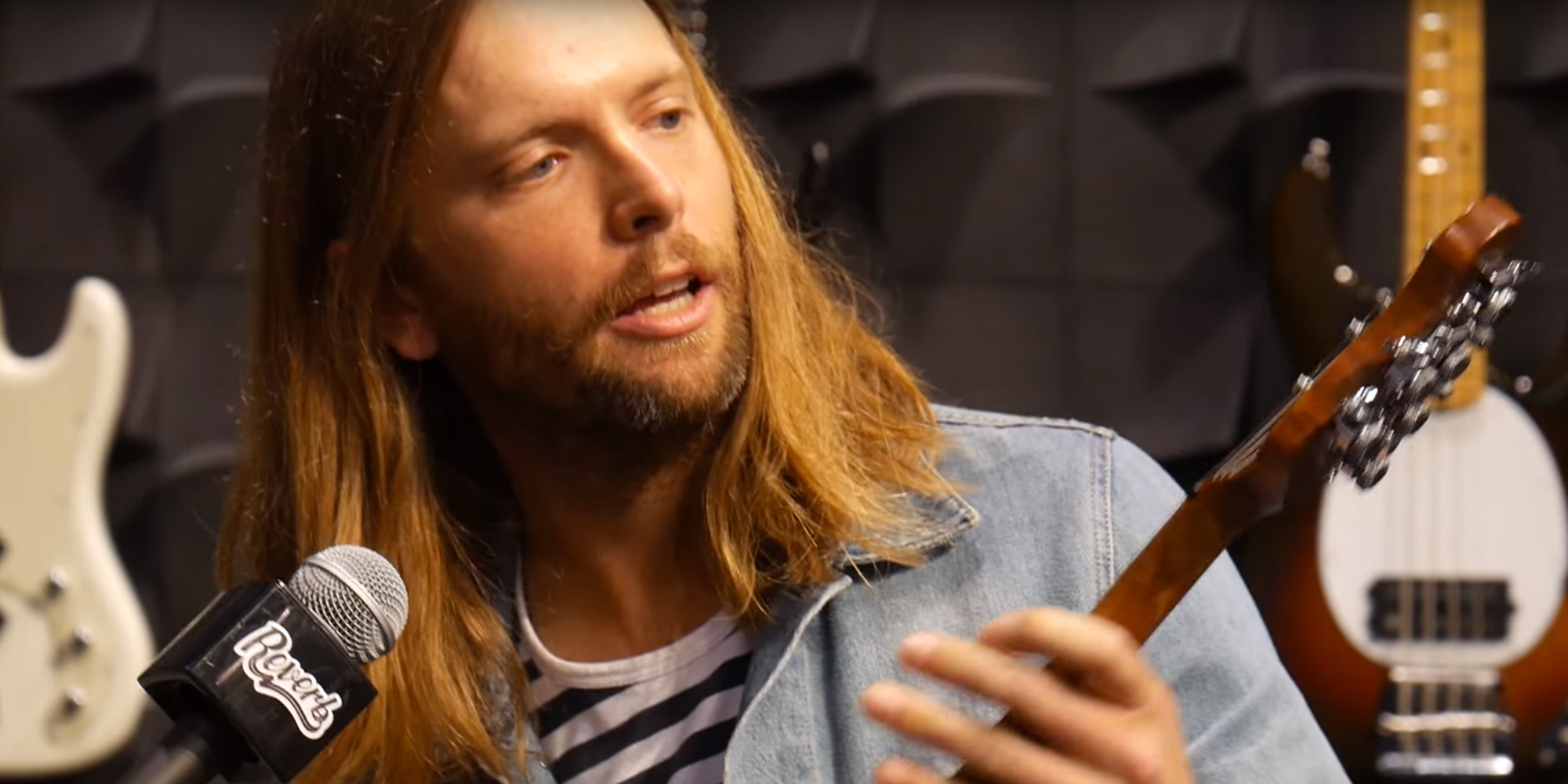 James Valentine discusses his new Ernie Ball Music Man guitar