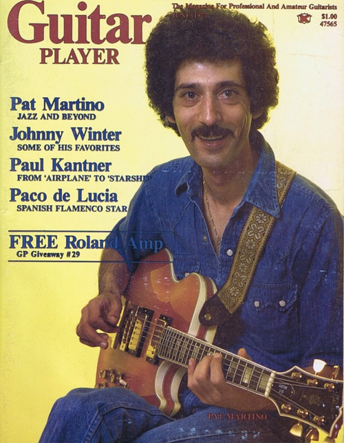 Martino and the Gibson L-5S on Guitar Player Magazine June 1977