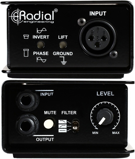 Inputs and Output on the Radial Reamp