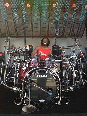 Ricky Lewis and his Tama Starclassic Performer B/B