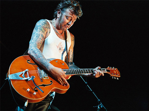 brian setzer's signature gretsch 6120 with filter'tron pickups