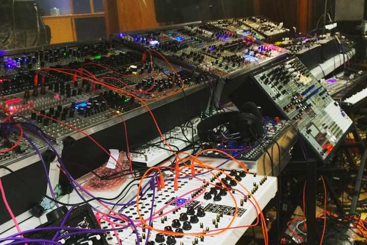 The modular setup used by Depeche Mode in the studio
