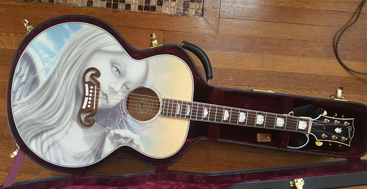 Artist Michael Godard Is Responsible For The Artwork On This Guitar Same Used Dishwallas Opaline Album Cover