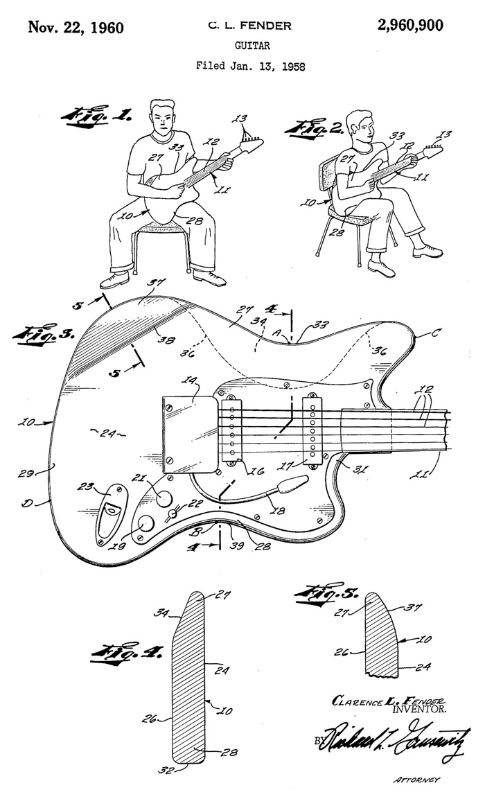 How The Jaguar Became Fenders New Model For 1962 Reverb News Fender Lead Iii Wiring Diagram Offset Patent Illustration
