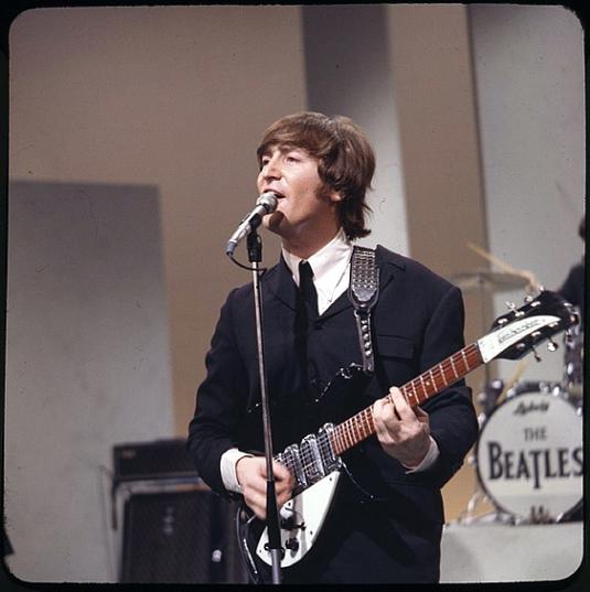 Lennon Plays His Rickenbacker 325 On The Ed Sullivan Show In 1965