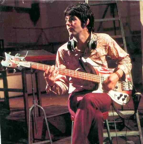 Paul With His Rickenbacker 4001 Bass
