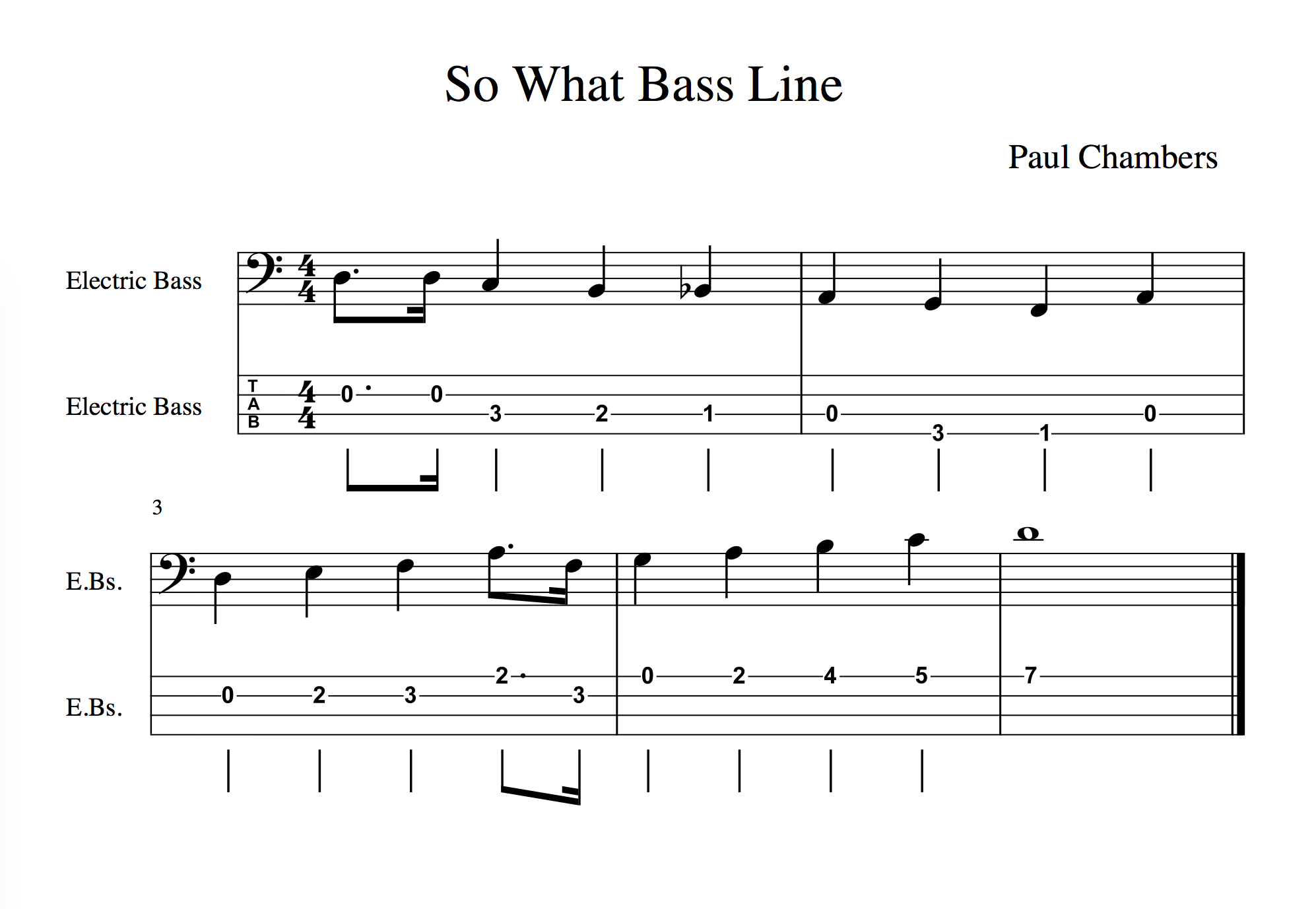 Bass Walk of the Week: Paul Chambers on Miles Davis