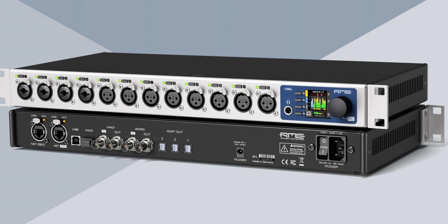 Αποτέλεσμα εικόνας για RME Audio Interfaces Releases New 12Mic, M-1610, and AVB Tool | NAMM 2020
